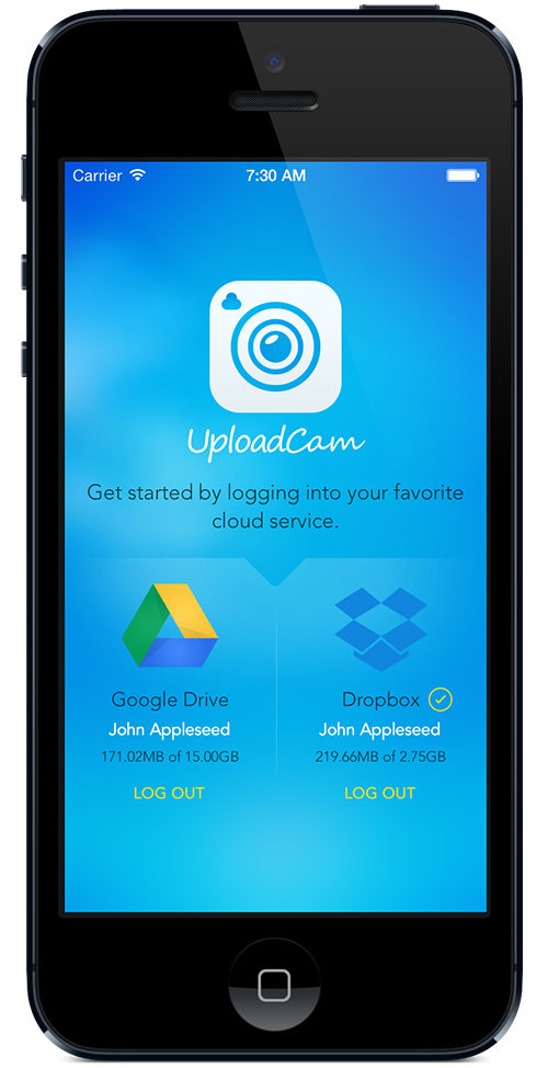 Instantly save photos & videos to Dropbox or Google Drive